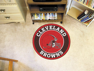 "NFL Officially licensed products Cleveland Browns Roundel Mat 27"" diameter Looking for a unique rug to decorate your home or"