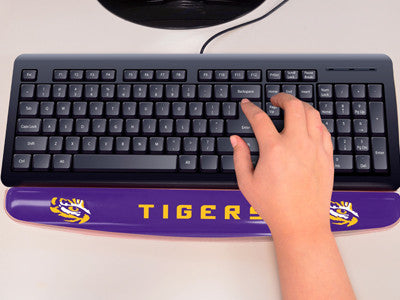 "NCAA Officially licensed Louisiana State University Gel Wrist Rest 2""x18"" Join the hype and type with pride by using officia"