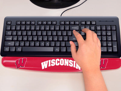 "NCAA Officially licensed University of Wisconsin Gel Wrist Rest 2""x18"" Join the hype and type with pride by using officially"