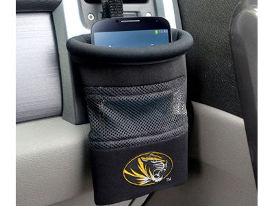 "NCAA Officially licensed University of Missouri Car Caddy 5""x4.5"" Keep important items at arm?s length while diving with an"