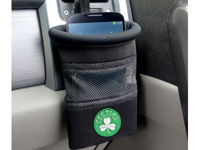 "NBA Officially licensed products Boston Celtics Car Caddy 5""x4.5"" Keep important items at arm?s length while diving with an"