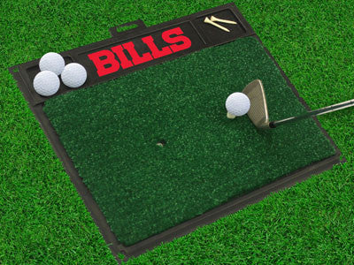 "NFL Officially licensed products Buffalo Bills Golf Hitting Mat 20"" x 17"" Work on your backswing while showing off your team"