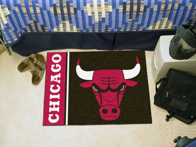 "NBA Officially licensed products Chicago Bulls Uniform Starter Rug 19""x30"" Start showing off your team pride at home and the"