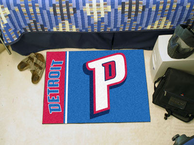 "NBA Officially licensed products Detroit Pistons Uniform Starter Rug 19""x30"" Start showing off your team pride at home and t"