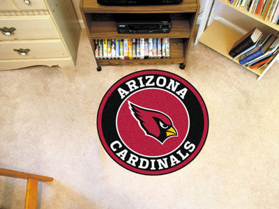 "NFL Officially licensed products Arizona Cardinals Roundel Mat 27"" diameter Looking for a unique rug to decorate your home o"