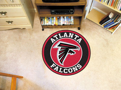 "NFL Officially licensed products Atlanta Falcons Roundel Mat 27"" diameter Looking for a unique rug to decorate your home or"
