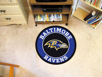 "NFL Officially licensed products Baltimore Ravens Roundel Mat 27"" diameter Looking for a unique rug to decorate your home or"