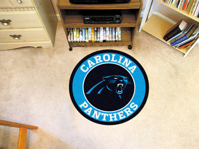 "NFL Officially licensed products Carolina Panthers Roundel Mat 27"" diameter Looking for a unique rug to decorate your home o"
