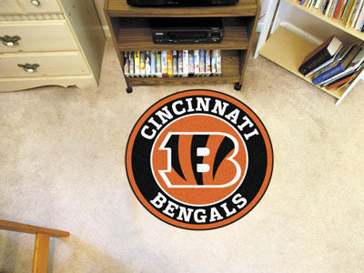 "NFL Officially licensed products Cincinnati Bengals Roundel Mat 27"" diameter Looking for a unique rug to decorate your home"
