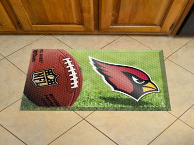 "NFL Officially licensed products Arizona Cardinals Scraper Mat 19""x30"" - Ball Scraper Mats by SLSrts Licensing Solutions are"