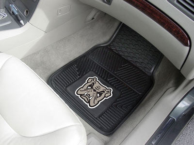 "NCAA Officially licensed Adrian College 2-pc Vinyl Car Mat Set 17""x27"" Add style to your ride with heavy duty Vinyl Car Mats"