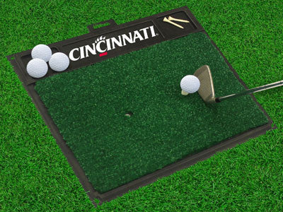 "NCAA Officially licensed University of Cincinnati Golf Hitting Mat 20"" x 17"" Work on your backswing while showing off your t"