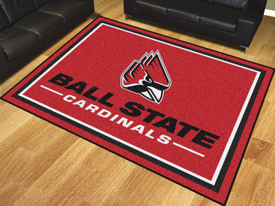 "NCAA Officially licensed Ball State University 8x10 Rug 87""x117"" Show off your team pride in a big way! 8'x10' ultra plush a"
