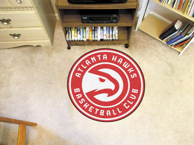 "NBA Officially licensed products Atlanta Hawks Roundel Mat 27"" diameter Looking for a unique rug to decorate your home or of"