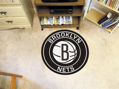 "NBA Officially licensed products Brooklyn Nets Roundel Mat 27"" diameter Looking for a unique rug to decorate your home or of"