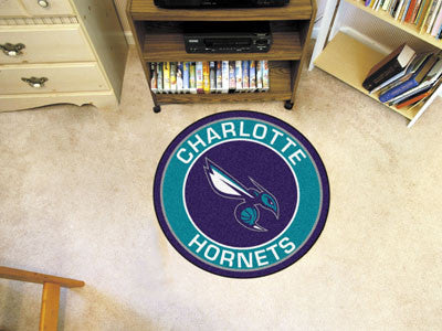 "NBA Officially licensed products Charlotte Hornets Roundel Mat 27"" diameter Looking for a unique rug to decorate your home o"