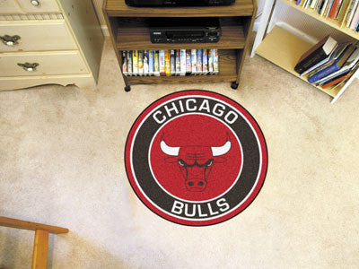 "NBA Officially licensed products Chicago Bulls Roundel Mat 27"" diameter Looking for a unique rug to decorate your home or of"