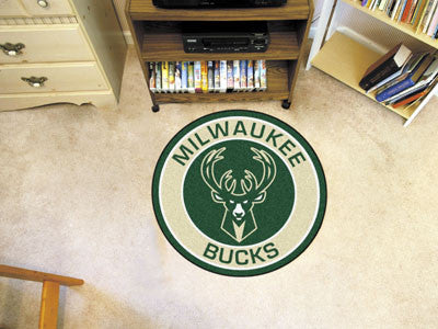 "NBA Officially licensed products Milwaukee Bucks Roundel Mat 27"" diameter Looking for a unique rug to decorate your home or"