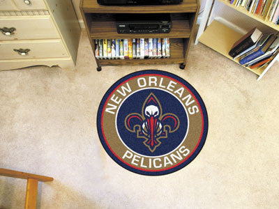 "NBA Officially licensed products New Orleans Hornets Roundel Mat 27"" diameter Looking for a unique rug to decorate your home"