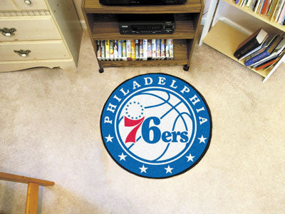 "NBA Officially licensed products Philadelphia 76ers Roundel Mat 27"" diameter Looking for a unique rug to decorate your home"