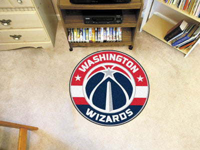 "NBA Officially licensed products Washington Wizards Roundel Mat 27"" diameter Looking for a unique rug to decorate your home"
