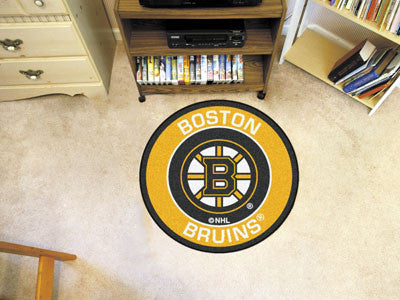 "NHL Officially licensed products Boston Bruins Roundel Mat 27"" diameter Looking for a unique rug to decorate your home or of"