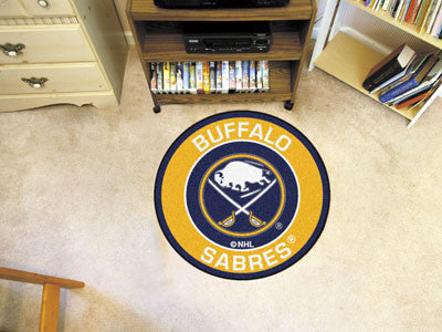 "NHL Officially licensed products Buffalo Sabres Roundel Mat 27"" diameter Looking for a unique rug to decorate your home or o"