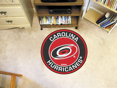 "NHL Officially licensed products Carolina Hurricanes Roundel Mat 27"" diameter Looking for a unique rug to decorate your home"