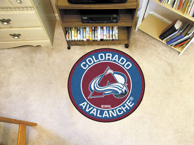 "NHL Officially licensed products Colorado Avalanche Roundel Mat 27"" diameter Looking for a unique rug to decorate your home"