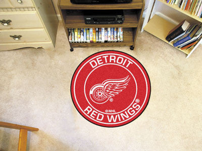 "NHL Officially licensed products Detroit Red Wings Roundel Mat 27"" diameter Looking for a unique rug to decorate your home o"