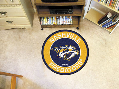 "NHL Officially licensed products Nashville Predators Roundel Mat 27"" diameter Looking for a unique rug to decorate your home"