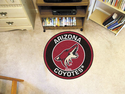 "NHL Officially licensed products Arizona Coyotes Roundel Mat 27"" diameter Looking for a unique rug to decorate your home or"
