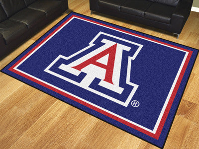 "NCAA Officially licensed University of Arizona 8x10 Rug 87""x117"" Show off your team pride in a big way! 8'x10' ultra plush a"