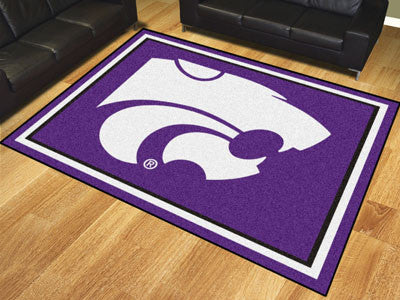 "NCAA Officially licensed Kansas State University 8x10 Rug 87""x117"" Show off your team pride in a big way! 8'x10' ultra plush"