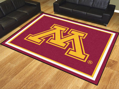 "NCAA Officially licensed University of Minnesota 8x10 Rug 87""x117"" Show off your team pride in a big way! 8'x10' ultra plush"