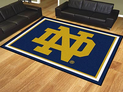 "NCAA Officially licensed Notre Dame 8x10 Rug 87""x117"" Show off your team pride in a big way! 8'x10' ultra plush area rugs wo"