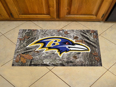 "NFL Officially licensed products Baltimore Ravens Scraper Mat 19""x30"" - Camo Scraper Mats by SLSrts Licensing Solutions are"