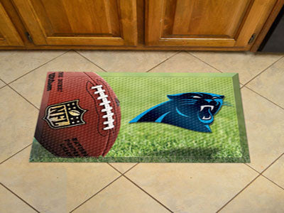 "NFL Officially licensed products Carolina Panthers Scraper Mat 19""x30"" - Ball Scraper Mats by SLSrts Licensing Solutions are"