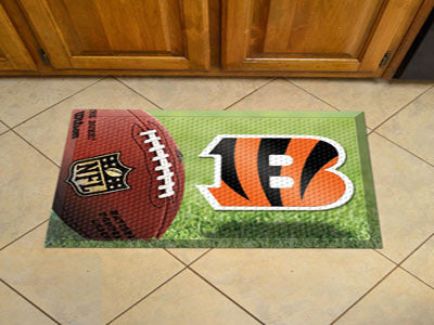 "NFL Officially licensed products Cincinnati Bengals Scraper Mat 19""x30"" - Ball Scraper Mats by SLSrts Licensing Solutions ar"
