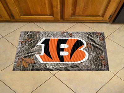 "NFL Officially licensed products Cincinnati Bengals Scraper Mat 19""x30"" - Camo Scraper Mats by SLSrts Licensing Solutions ar"