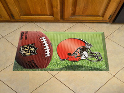 "NFL Officially licensed products Cleveland Browns Scraper Mat 19""x30"" - Ball Scraper Mats by SLSrts Licensing Solutions are"