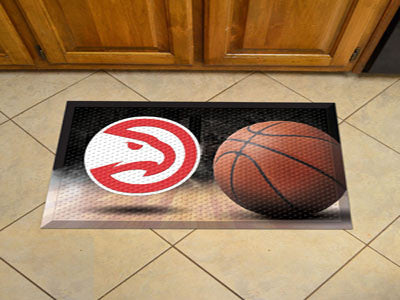 "NBA Officially licensed products Atlanta Hawks Scraper Mat 19""x30"" - Ball Scraper Mats by Sports Licensing Solutions are gre"