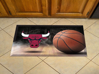 "NBA Officially licensed products Chicago Bulls Scraper Mat 19""x30"" - Ball Scraper Mats by Sports Licensing Solutions are gre"