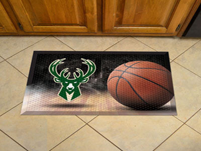 "NBA Officially licensed products Milwaukee Bucks Scraper Mat 19""x30"" - Ball Scraper Mats by Sports Licensing Solutions are g"