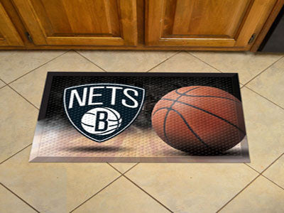 "NBA Officially licensed products Brooklyn Nets Scraper Mat 19""x30"" - Ball Scraper Mats by Sports Licensing Solutions are gre"