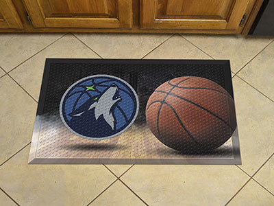 "NBA Officially licensed products Minnesota Timberwolves Scraper Mat 19""x30"" - Ball Scraper Mats by Sports Licensing Solution"
