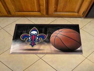 "NBA Officially licensed products New Orleans Hornets Scraper Mat 19""x30"" - Ball Scraper Mats by Sports Licensing Solutions a"