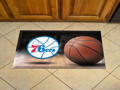 "NBA Officially licensed products Philadelphia 76ers Scraper Mat 19""x30"" - Ball Scraper Mats by Sports Licensing Solutions ar"