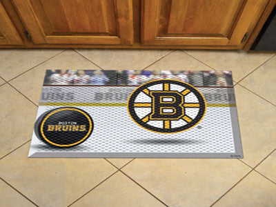 "NHL Officially licensed products Boston Bruins Scraper Mat 19""x30"" - Puck Scraper Mats by Sports Licensing Solutions are gre"