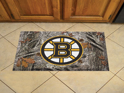 "NHL Officially licensed products Boston Bruins Scraper Mat 19""x30"" - Camo Scraper Mats by Sports Licensing Solutions are gre"
